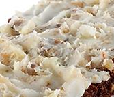 Whole grains with lard schmalz